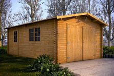 Houten garage Zuid-Holland 4x6m 44mm